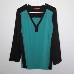 Narciso Rodriguez for Design Nation Teal Blouse